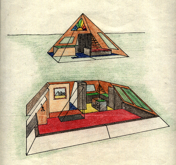 Two Story Pyramid House